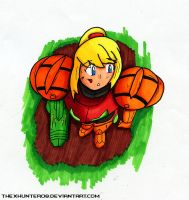 Samus Helmetless by TheXHunter08