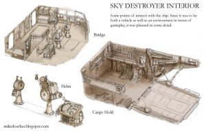 Sky Destroyer Interior Details by MikeDoscher