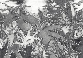 sonic, jet and shadow again by I-CyBeR-NeTiCs-I