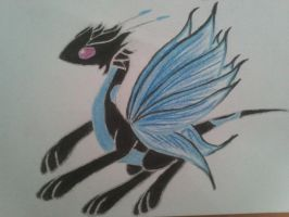 Moon Butterfly dragon (neon): Morpho by minecraftmobs456