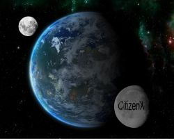 Two moon by CitizenXCreation