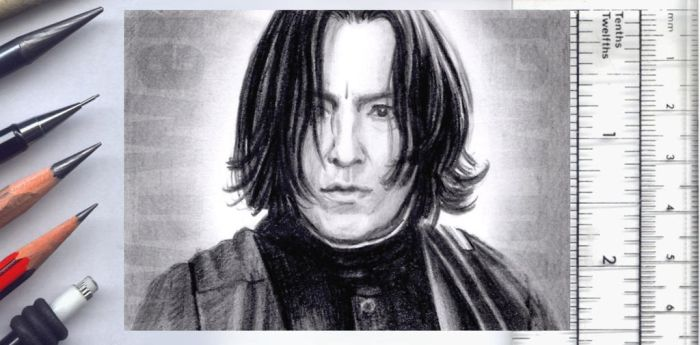 Severus Snape sketchcard by whu-wei