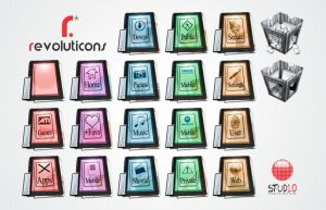 Revoluticons Colors Suite PNGs by Evoluticons