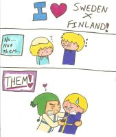 SwedenXFinland...sort of... by cartoonchick123