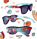 Snails Sunglasses by Bobsmade