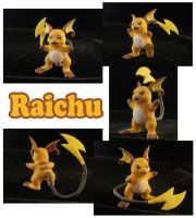 Raichu Sculpture: Collage by ClayPita