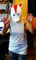 Me wearing my Itachi Anbumask by Chillovery