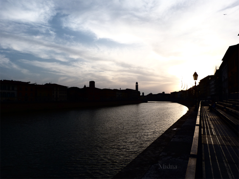 Lungarno (Pisa) by MidnArt