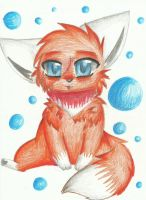 art trade with ChibiDogTheCute by RedNoctali