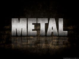 Metal Text Effect by KnightRanger