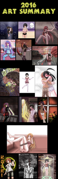 2016 Art summary by ChazzVC