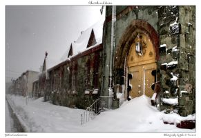 Church and Snow by yellowcaseartist