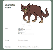 Character Page Preview by feralthegame