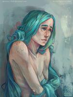 Merman portrait by sparrow-chan