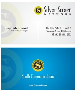 Business Card Silver Screen by asaleem