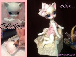 Nano Freya customized BJD doll by Katerina-Art