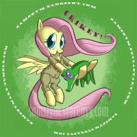 Fluttershteve Irwin: The Crocodile Hugger by samszym