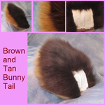 Brown and Tan Bunny Tail by Lascivus-Lutra