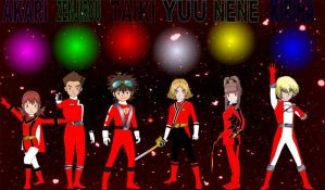Digimon Gokaiger Reds by rangeranime