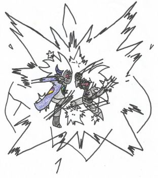 Omega Arashi Vs Full Power Cosmic Diamond by shawnventura