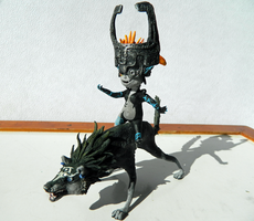 Wolf Link and Midna by sidemoon