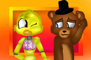 GIF Freddy x Chica - (Tony crynight - Version) by MoccaCrystal