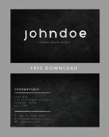 Chalkboard Business Card Template Design by photoshophut