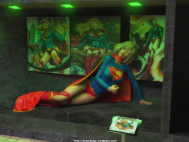 Supergirl on Display by orionsforge