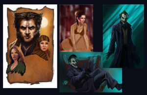 Unfinished Paintings by pinkhavok