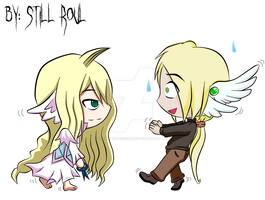 Vixtor Alaw and Mavis Vermilion (haircut) by LowRankRaccoon969