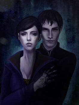 Emily and the Outsider - Dishonored 2 FanArt by Luh-Dwolf