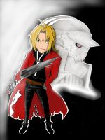 ~Edward and Alphonse Elric~ by pbjHoNkErS4life