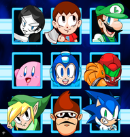 An odd set of Smash Masters! Go Megaman! by NkoGnZ