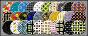 Patterned Buttons set I by noema-13