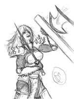 Another one of Aleena fighting by XantheStar