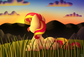 Looking at the Sunset by littleSpiritRose