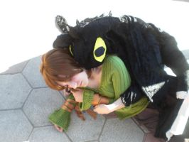 Hiccup and Toothless by neko-totoro