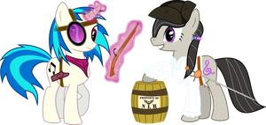 ED: Tavi and Scratch, Cider Smugglers by RuinedOmega