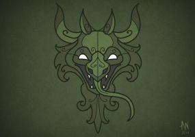 Dragon mask by Adele-Waldrom