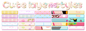 Cute Layer Styles 01 by Bourniio