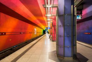 Munich, Candidplatz waiting U Bahn by alierturk