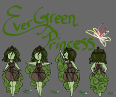 Evergreen Princess OC by herra97