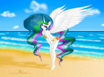 Celestia at the beach by GladiatorRomanus