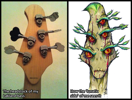 How I see it - headstock by Loony-Madness