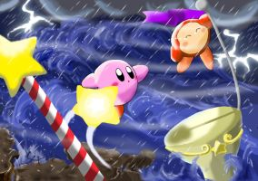 Kirby's rescue by aquabluu