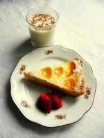 Cheesecake with Tangerines and Milk by Wilhelmine