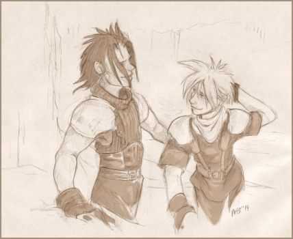 Zack and Cloud: Stick With Me by talon-serena