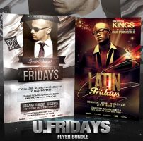 PSD Unforgettable Fridays Flyer Bundle - 2in1 by retinathemes