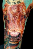 cow tatoo by tat2istcecil