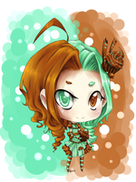 Kim - OC chibi - chocolate mint by kumo-e